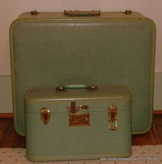 111d696e1 blue vintage suitcases - Google Search Vintage Luggage, Vintage Suitcases, Luggage  Sets, Vintage