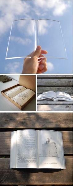 transparent book weight