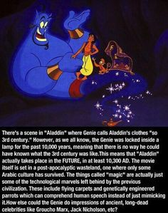 Aladdin takes place in a post-apocalyptic future. | 25 Childhood-Ruining Moments You Forgot About