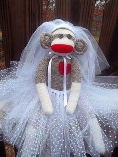 monkey in wedding dress