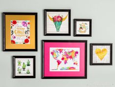 Give your gallery wall a handmade touch by framing made-by-you cross-stitch pieces!
