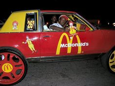 McPimping in the McPimpmobile. I cant remember where I got this one from actually found it online a few years back