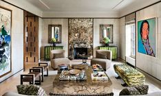 Deborah Berke Partners Crafts a Refined Penthouse for a Major Collector - Galerie Fireplace Mirror, Fireplace Surrounds, Living Room Pillows, Living Room Decor, Living Rooms, Living Room Upstairs, Villa Necchi, Oak Parquet Flooring, Luxury Interior Design