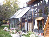 Really Interesting Use Of E With This Home Attached Structure Two Floors Greenhouse