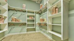 Gorgeous walk-in closet! #shelves #closet