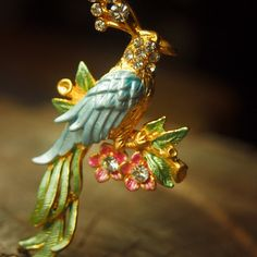 Blue bird brooch pin antique styled vintage costume by Craft365.com ~ US$11.90