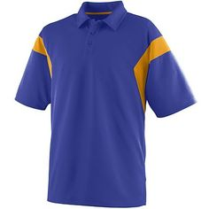 Augusta Sportswear Men's Wicking Textured Sideline Sport Shirt. 5075 Description   100% polyester wicking closed hole mesh, Wicks moisture away from the body, Heat sealed label, Self-fabric collar, Contrast color front and back shoulder inserts, Topstitched armholes, Set-in sleeves, Box-stitched placket, Three matching buttons with cross-stitching, Double-needle hemmed sleeves and bottom, Individually polybagged.