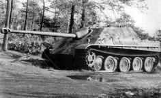 Despite their desperate circumstances the Germans continued to produce excellent equipment - the Jagdpanther ('hunting panther') mounted an improved 88mm on the excellent Panther chassis.  In a defensive battle the limited traverse mattered little, and from mid 1944 it was a formidable opponent.