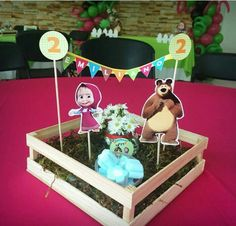 Resultado de imagem para masha and the bear birthday decorations Bear Birthday, 2nd Birthday, Marsha And The Bear, Baby Candy, Bear Theme, Baby Girl Toys, Bear Party, Party Rock, Ideas Para Fiestas