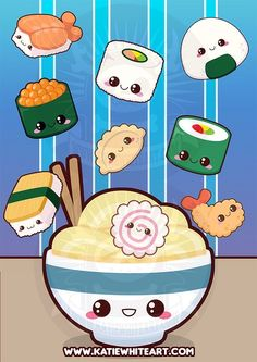 Kawaii Sushi Wallpaper | Anime Amino