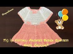 Tığ İşi Fıstıklı Prenses Bebek Elbisesi Nasıl Örülür ? -5 - YouTube