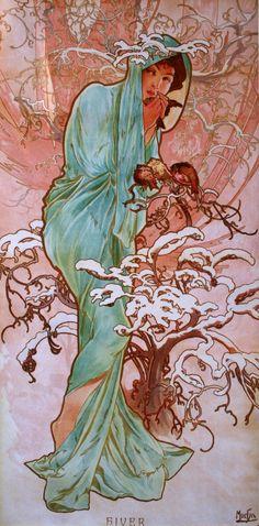 Alfons Mucha : L'inverno