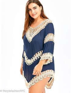 6a724eeab0260 8 Best INstyle Women's Plus Size Beach Cover Ups images in 2019