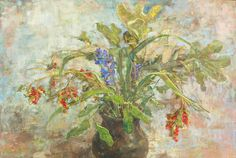 Emily Patrick :: Iris Berries and Blue Hyacinth