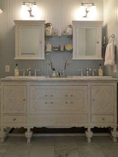Amazing Vintage Buffet Repurposed into a Bathroom Vanity