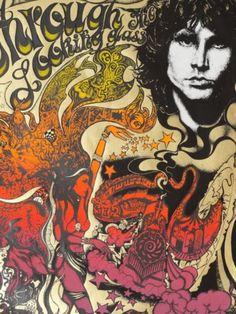 Psychedelica Design Era - The Doors Concert Poster - Psychedelic Rock, Psychedelic Posters, Rock Posters, Band Posters, Music Posters, Vintage Concert Posters, Vintage Posters, Flower Power, Art Hippie