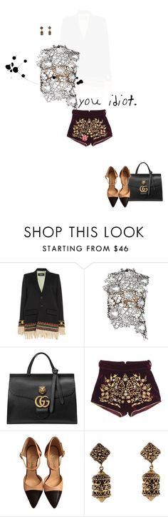 """""""postcard from far away"""" by dear-inge on Polyvore featuring Dsquared2, self-portrait, Gucci and Chanel"""