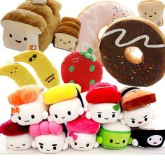 JAPAN SUSHI PILLOW VARIOUS FOOD CUSHION TOY PLUSH DOLL / FREE SHIP / X-MAS GIFT SUPER CUTE PILLLOOOOOW