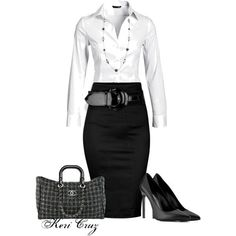 A fashion look from December 2013 featuring H&M blouses, Dorothy Perkins skirts and Yves Saint Laurent pumps. Browse and shop related looks.