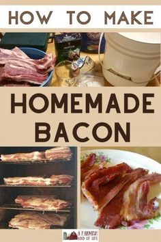 How to turn your home raised side pork/pork belly into delicious bacon! How to make homemade bacon - A Farmish Kind of Life Pork Belly Recipes, Sausage Recipes, Meat Recipes, Real Food Recipes, Traeger Recipes, Game Recipes, Pork Bacon, Smoked Bacon