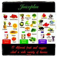 Bridge the gap between what you do eat what you should eat, with Juiceplus.  Juiceplus is not a vitamin supplement. It is whole food, dehydrated and concentrated fruit and veggies put into capsules.  Adding the best of phytonutrients directly to your blood stream from 17 different fruit and veggies.  Want more info, want to hear my story message me.  It's the next best thing!!!  www.stephanies-Juiceplus.com.