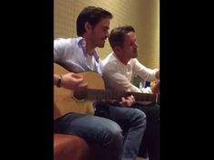 Colin O'Donoghue and Sean Maguire singing - YouTube