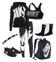 """""""#JustDoIt NIKE"""" by tayeisbi25 on Polyvore featuring NIKE, women's clothing, women, female, woman, misses and juniors"""