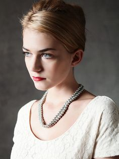 """Banana Republic's """"Mad Men"""" Collection - love the hair & makeup. #style #inspiration #fashion #hair #makeup"""