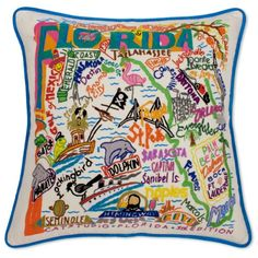 Celebrate the state of Florida with this pillow that is entirely HAND ...