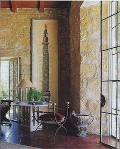 NOTICE THE WALL ANGLE AT THE DOOR (amazing detail) John Saladino