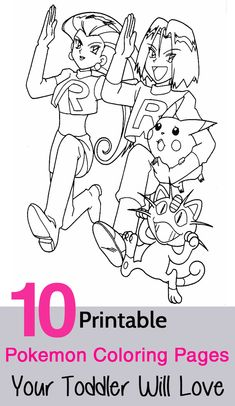 10 printable pokemon coloring pages your toddler will love