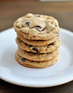 Chocolate Chip Peanut Butter Cookies  @Lisa Trent  This is the recipe I used except I substituted half of the butter with veg shortening. I need to make another batch already!