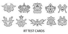 Risultati immagini per rorschach inkblot test cards