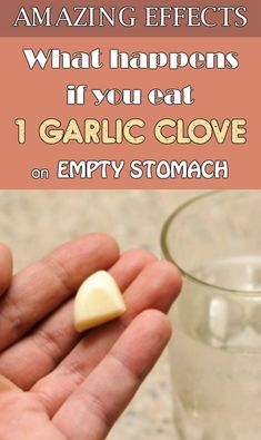 Garlic has a lot of benefits for our health but is forbidden for those with stomach problems. It is very efficient in treating viral diseases acts as a natural antibiotic for infections and studies show that if you eat garlic on an empty stomach you wi Natural Health Remedies, Natural Cures, Herbal Remedies, How To Stay Healthy, Healthy Life, Health And Wellness, Health Tips, Health Essay, Health Blogs