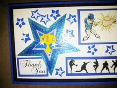 Baseball All Stars Thank You Coach card