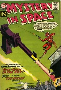 Mystery In Space - Gun - Flying Men - Building - Firing