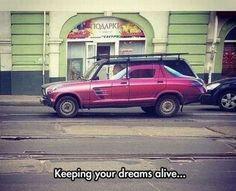 Mantén vivos tus sueños . Más #humor en www.lasfotosmasgraciosas.com