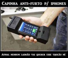 Capinha anti-furto para iPhone