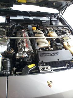 Porsche 944S engine bay.