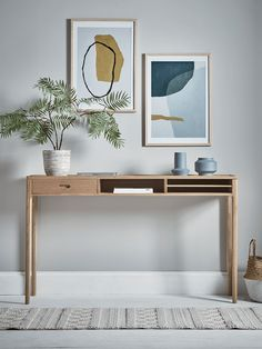 Oak Storage Console Table - Console Tables - Luxury Modern Tables - Modern Home Furniture Modern Home Furniture, Scandinavian Furniture, Cheap Furniture, Table Furniture, Furniture Nyc, Furniture Online, Home Office Inspiration, Wooden Console Table, Console Tables
