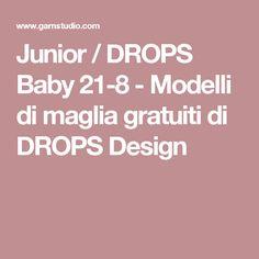 Junior / DROPS Baby 21-8 - Modelli di maglia gratuiti di DROPS Design