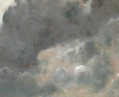 john constable - oil on paper / board - cloud study (detail) (1822)