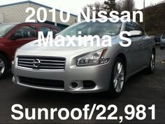 Here is a great car for someone looking to profit the savings on this 2010 Nissan Maxima S with Sunroof and more!  Watch the video and call 412-695-3929 or 724-288-4791 for more information!
