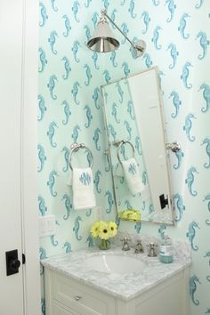 Turquoise Abnormals Anonymous Seahorse Wallpaper