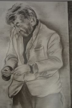 Joe Living Rough in London Charcoal on paper