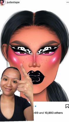 Dope Makeup, Baddie Makeup, Makeup Eye Looks, Eye Makeup Art, Crazy Makeup, Eyeshadow Looks, Makeup Inspo, Amazing Halloween Makeup, Amazing Makeup
