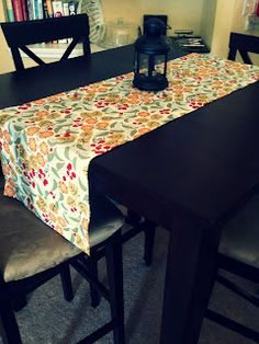 No-sew table runner.