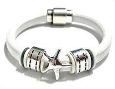 Leather Bracelet Beaded Cuff, Regaliz licorice leather, PICK YOUr SIZe    egrobeck - Jewelry on ArtFire