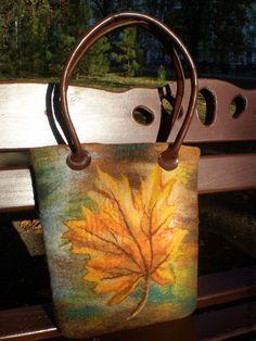 """Валяная сумка """"Осенний листопад"""" - осенние листья,валяная сумка,сумка валяная"""