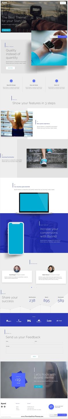 Byond is clean and modern design responsive multipurpose #bootstrap template for #startup #business website to live preview & download click on Visit 👆